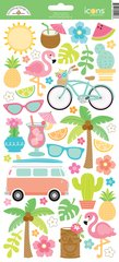 Doodlebug Design Fun in the Sun Icon Stickers