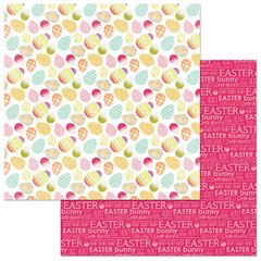 PhotoPlay Hoppy Easter Colored Eggs 12 x 12 Cardstock