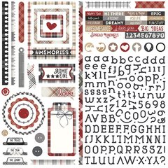 Photoplay Mad 4 Plaid Tailored Element Stickers