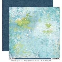 PRE ORDER Cocoa Vanilla Studio Boys Rule Expressionist 12 x 12 Cardstock