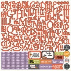 Photoplay Julie Nutting Bootiful 12 x 12 Alpha Sticker Sheet