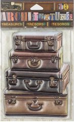 7 GYPSIES - ARCHITEXTURES TREASURES - STACKED LEATHER SUITCASES