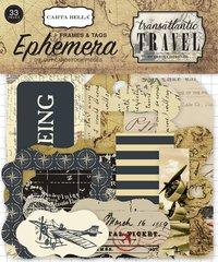 Carta Bella Transatlantic Travel Frames & Tags Ephemera