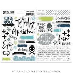 PRE ORDER Cocoa Vanilla Studio Boys Rule Clear Stickers