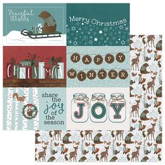 PhotoPlay Winter Meadow 12 x 12 Cardstock Winter Trimmings