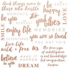 Kaisercraft Misty Mountains Be You Quotes Foiled Paper