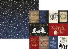 Simple Stories O Holy Night Journaling Cards 12 x 12 Cardstock