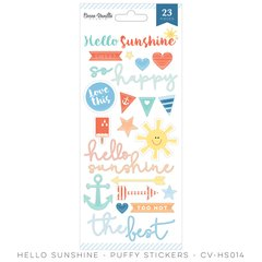 Cocoa Vanilla Hello Sunshine Puffy Stickers