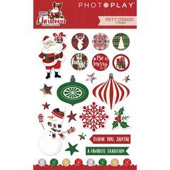 PHOTOPLAY MAD 4 PLAID CHRISTMAS Puffy Element Stickers