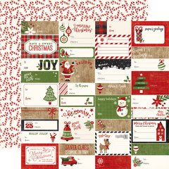 Echo Park A Perfect Christmas Gift Tags 12 x 12 Cardstock