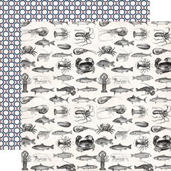 Carta Bella Paper Ahoy There 12 x 12 Double Sided Paper Sea Creatures