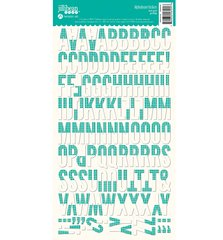 JILLIBEAN SOUP ALPHABEAN STICKERS Teal Grid