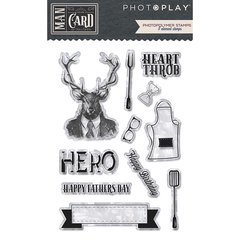 PhotoPlay Man Card Photopolymer Stamps (shapes) MC8900