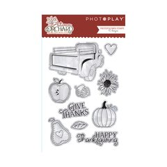 PhotoPlay Autumn Orchard Clear Acrylic Stamps
