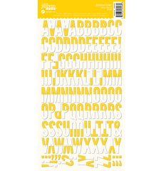 JILLIBEAN SOUP ALPHABEAN STICKERS Yellow Chevron