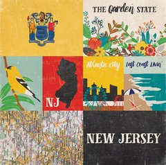 Echo Park Stateside Collection NEW JERSEY 12 x 12 Paper