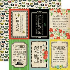 Carta Bella Our Family 4 x 6 Journaling Cards 12 x 12 Cardstock