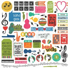 PhotoPlay Band Geek 12 x 12 Element Stickers