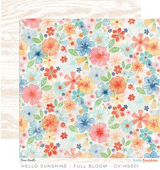 Cocoa Vanilla Hello Sunshine 12 x 12 Paper Full Bloom
