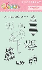 For the Love of Summer Clear Acrylic Stamps