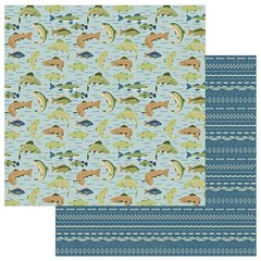 Photo Play Paper  Lakeside Collection 12 x 12 Double Sided Paper - Catch of the Day