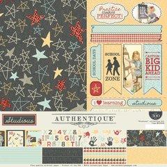 Authentique Studious 12 x 12 Collection Kit