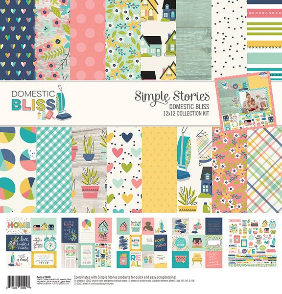 Simple Stories Domestic Bliss Happy Scrappy Bag