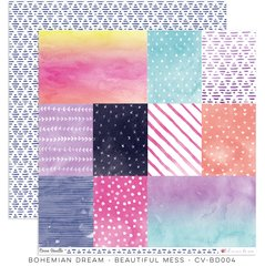 Cocoa Vanilla Studio Bohemian Dream BEAUTIFUL MESS 12 x 12 Cardstock