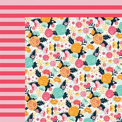 Fancy Pants Summer Sun 12 x 12 Double Sided Cardstock Summer Floral