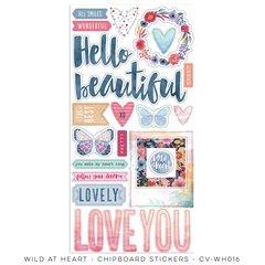 Cocoa Vanilla Studio Wild at Heart Chipboard Stickers