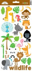 Doodlebug Design At The Zoo Icon Stickers (5667)