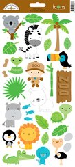 Doodlebug Design At The Zoo 2 Icons Stickers (5668)