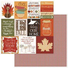 PhotoPlay Autumn Orchard 12 x 12 Cardstock THANKFUL