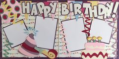 Happy Birthday Girl LAYOUT KIT BY SCRAPBOOKING WITH MRS. C