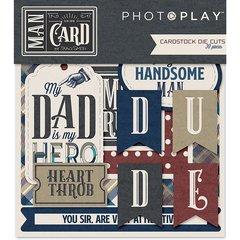 PhotoPlay Man Card Die Cut Ephemera