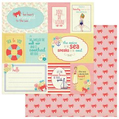 Julie Nutting Nautical Bliss 12 x 12 Double Sided Cardstock Cards