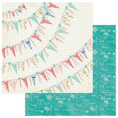 Julie Nutting Nautical Bliss 12 x 12 Double Sided Cardstock Banners