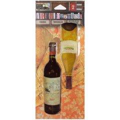 7 Gypsies Architextures Findings Adhesive Embellishments Wine Bottles