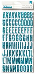 American Crafts Glitter Foam Letters Thickers Blue 733018