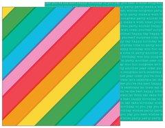PEBBLES HAPPY HOORAY 12 X 12 CARDSTOCK Rainbowtastic 732391