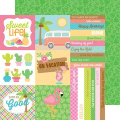 Doodlebug Design Fun in the Sun 12 x 12 Double Sided Card stock Island Tropics