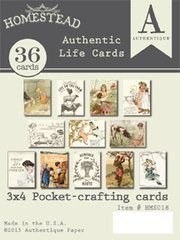 Authentique Homestead 3 x 4 Authentic Life Cards