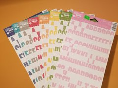 Complete Set of 8 NEW Jillibean Soup Alphabean Stickers