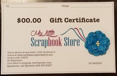 $100 Gift Certificate via USPS MAIL