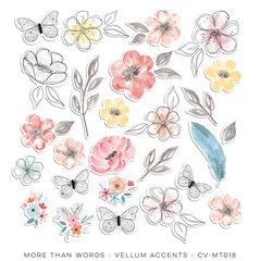 PRE ORDER Cocoa Vanilla Studio More Than Words Vellum Accents
