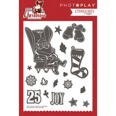PHOTOPLAY MAD 4 PLAID CHRISTMAS Etched Dies Elements