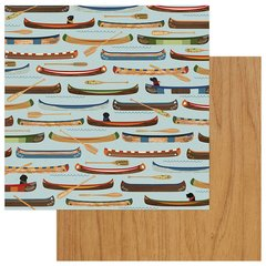 Photo Play Paper Lakeside Collection -12 x 12 Double Sided Paper - Row Your Boat