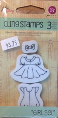 "Prima Julie Nutting Cling Stamps ""Girl Set"""