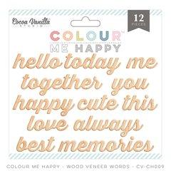 Cocoa Vanilla Colour Me Happy Wood Veneer Words