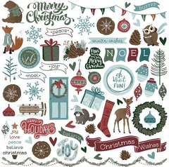 PhotoPlay Winter Meadow 12 x 12 Element Sticker Sheet